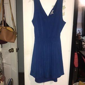 Blue Open Backed Dress
